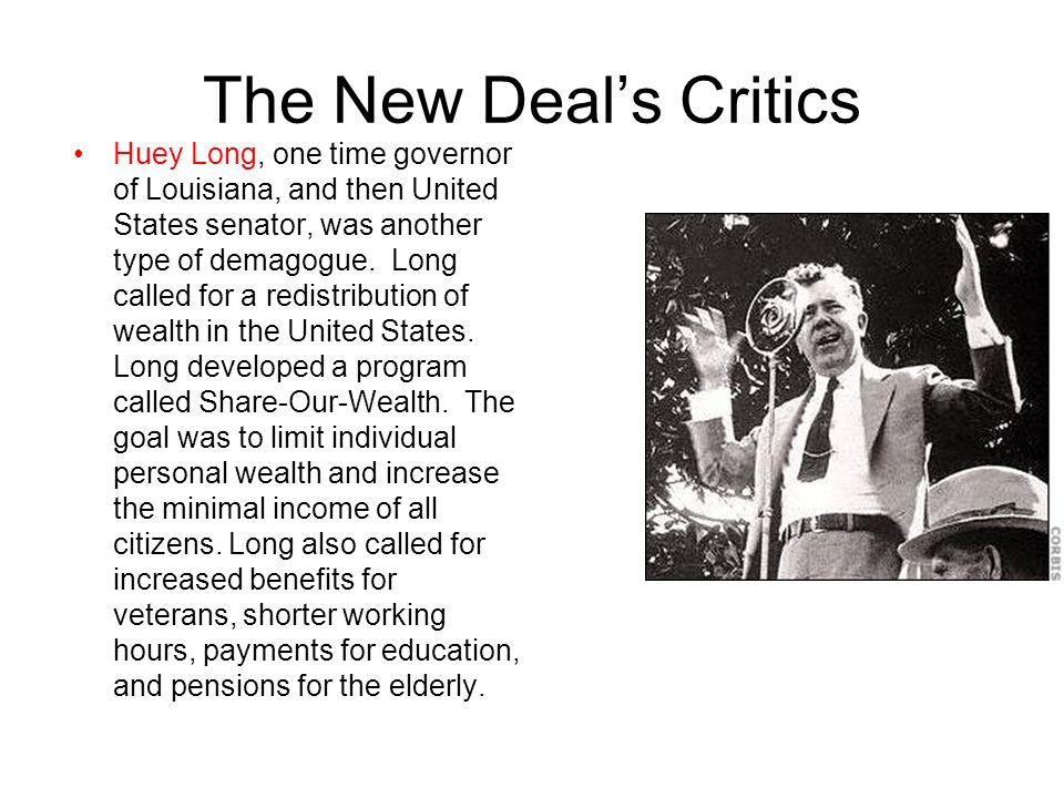 The New Deal's Critics
