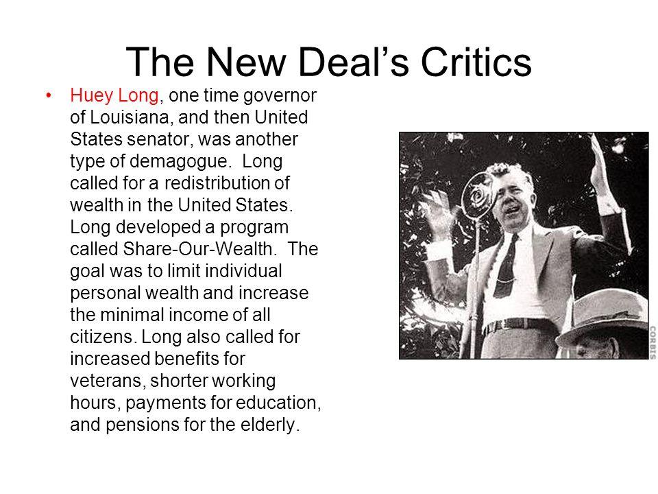 The New Deal's Critics