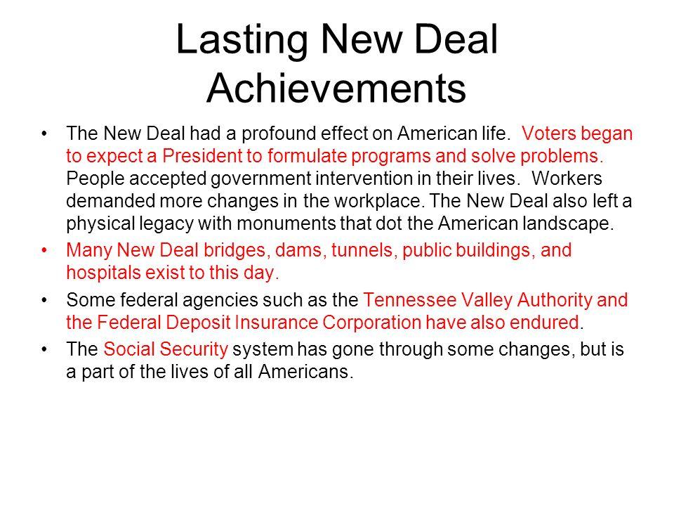 Lasting New Deal Achievements