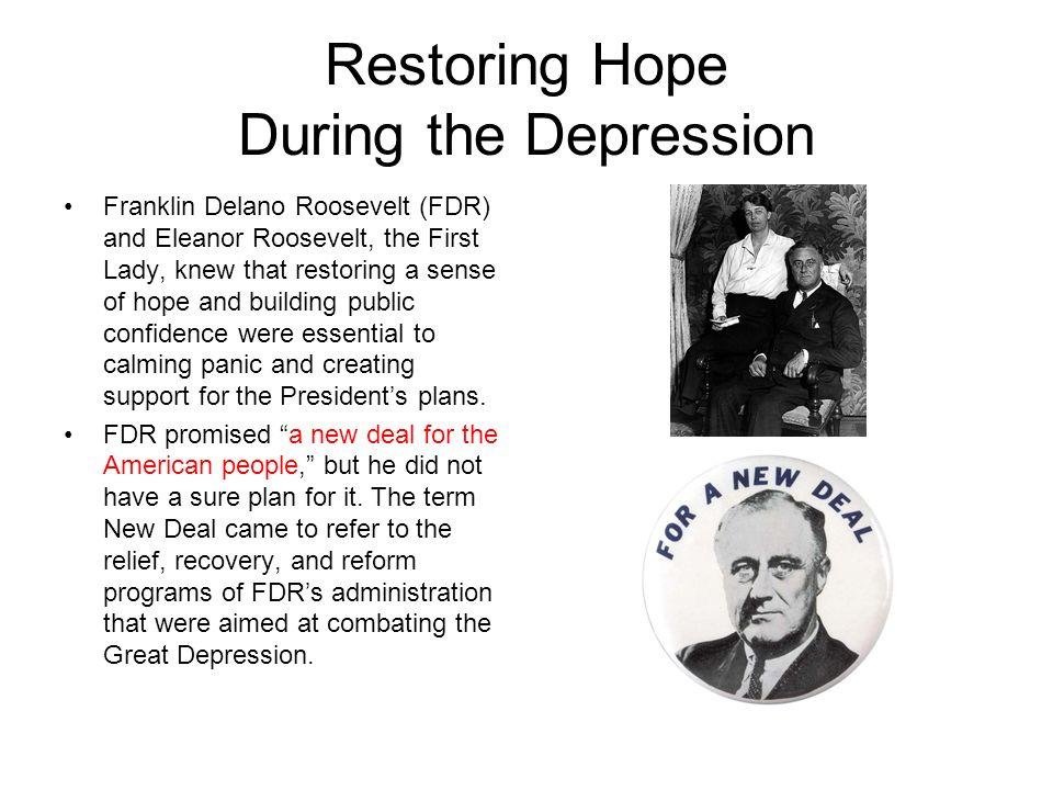 Restoring Hope During the Depression