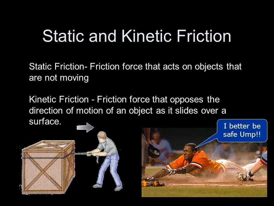 Static and Kinetic Friction