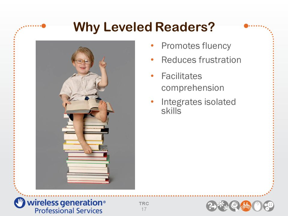 Why Leveled Readers Promotes fluency Reduces frustration
