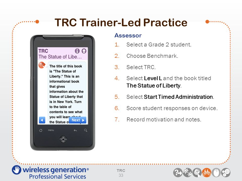 TRC Trainer-Led Practice