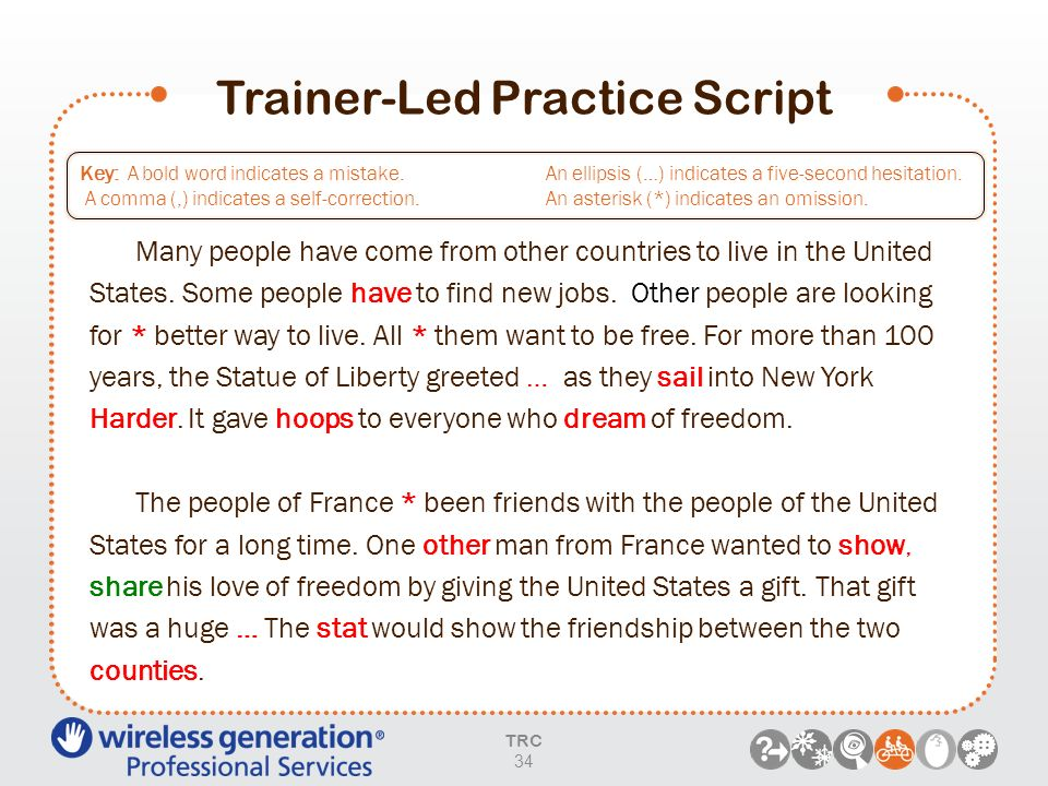 Trainer-Led Practice Script