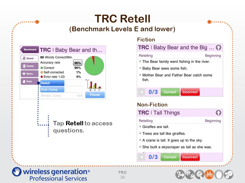 TRC Retell (Benchmark Levels E and lower)