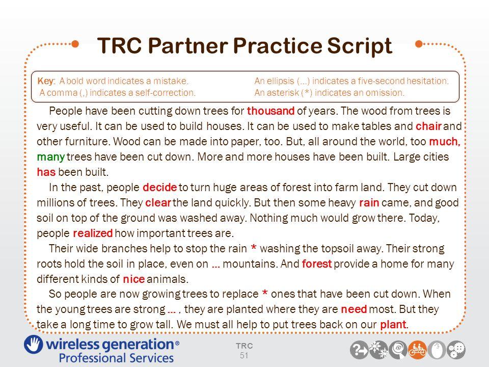 TRC Partner Practice Script
