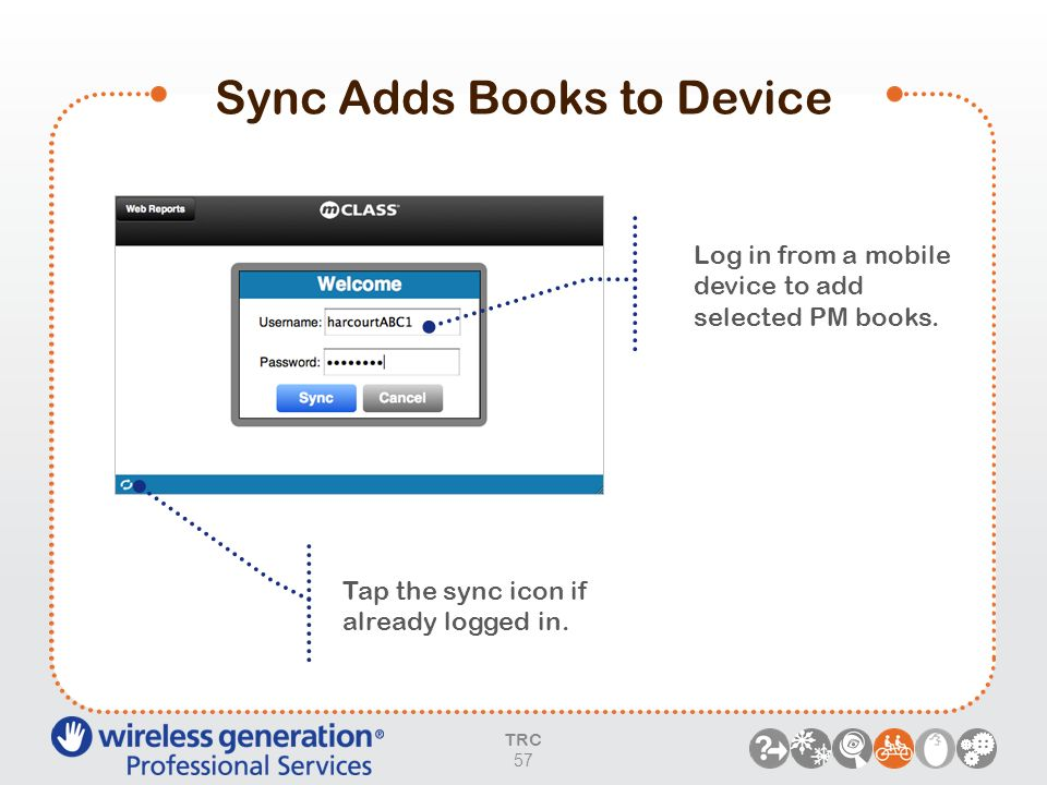Sync Adds Books to Device