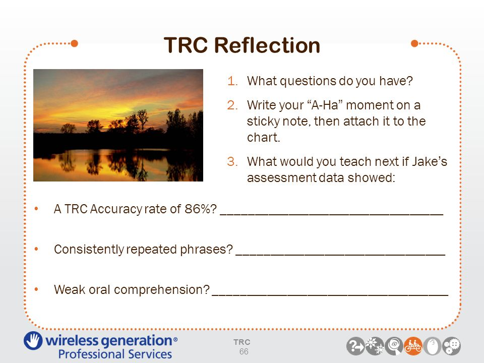 TRC Reflection What questions do you have