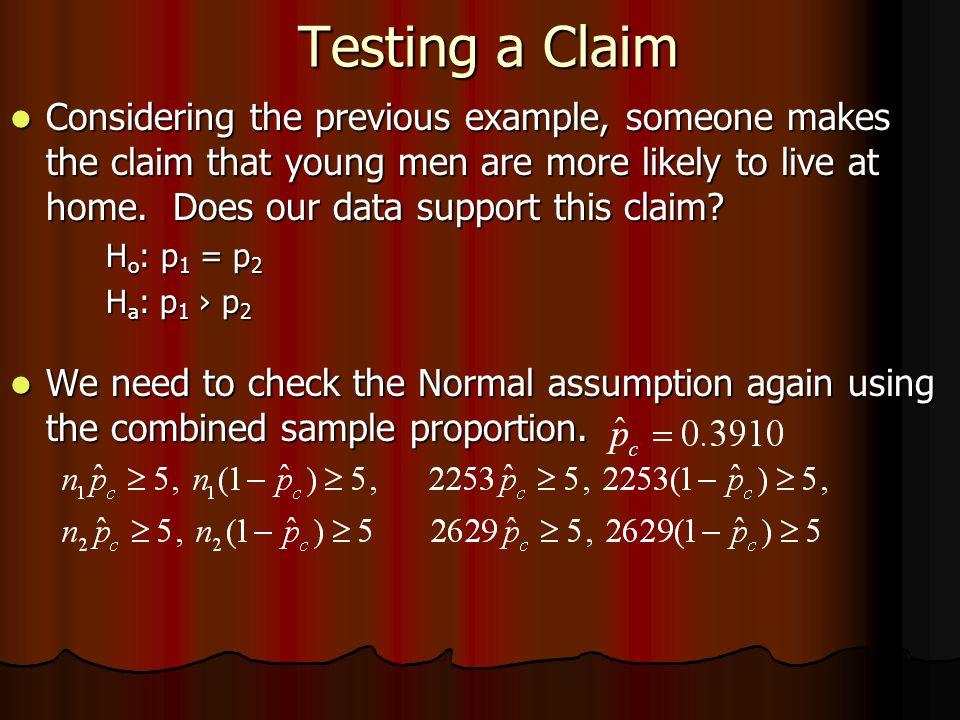 Testing a Claim