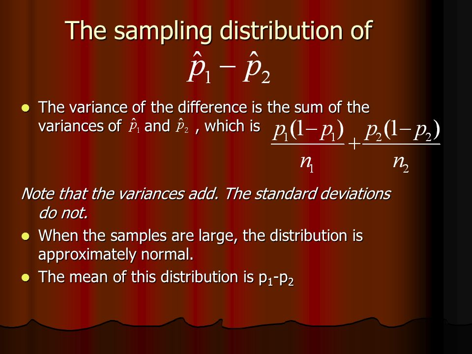 The sampling distribution of