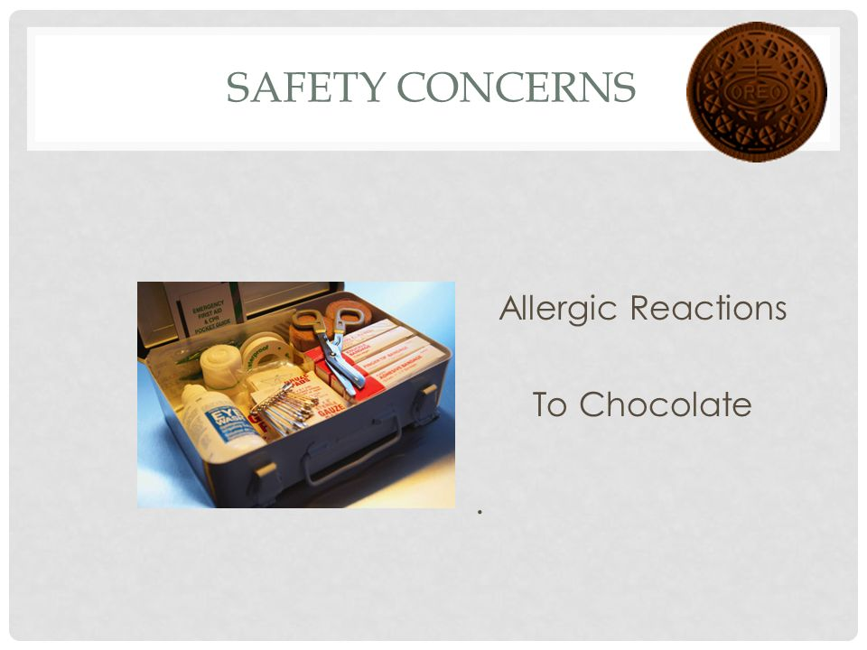 Allergic Reactions To Chocolate .