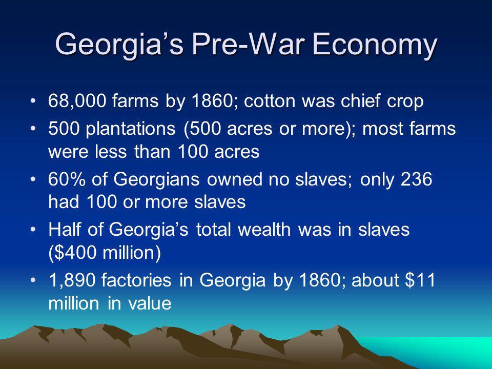 Georgia's Pre-War Economy