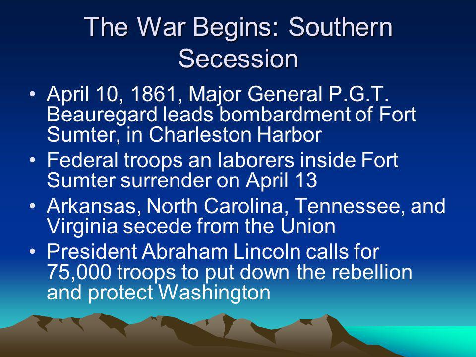 The War Begins: Southern Secession