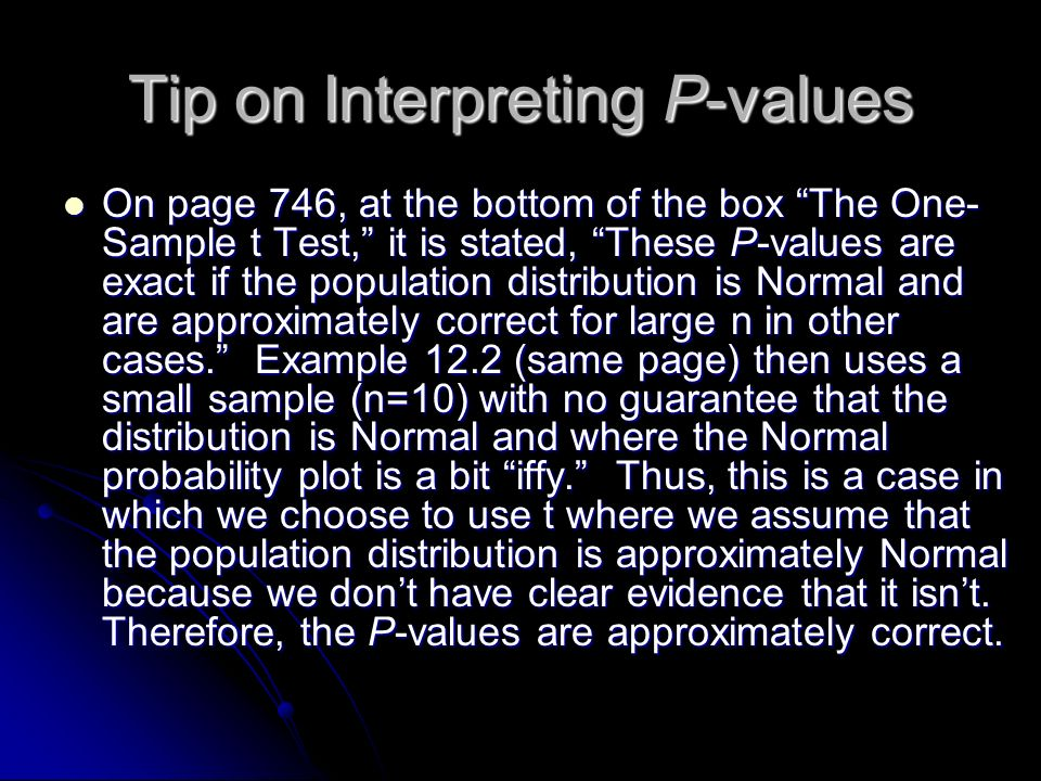 Tip on Interpreting P-values