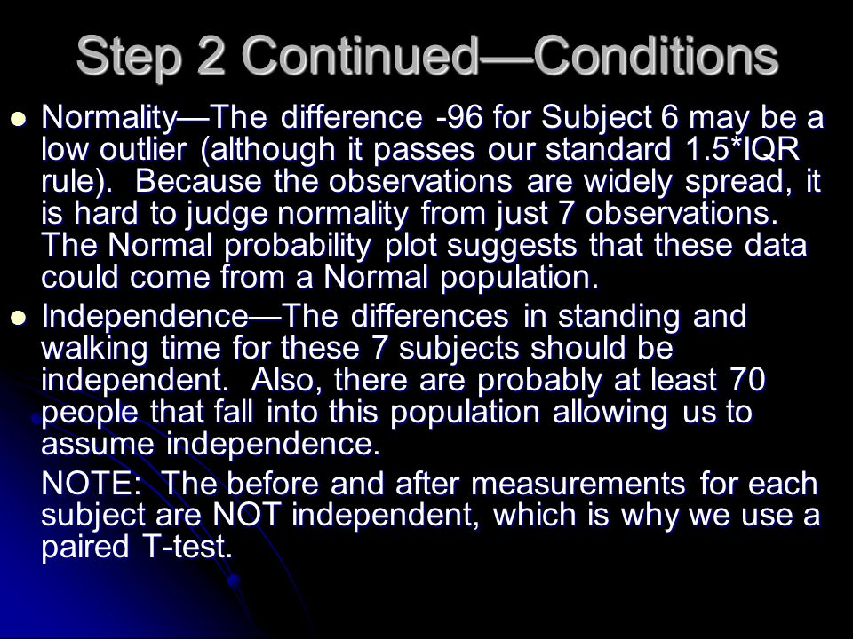 Step 2 Continued—Conditions