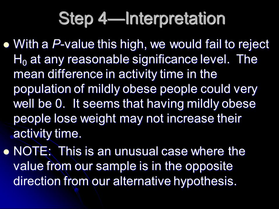 Step 4—Interpretation