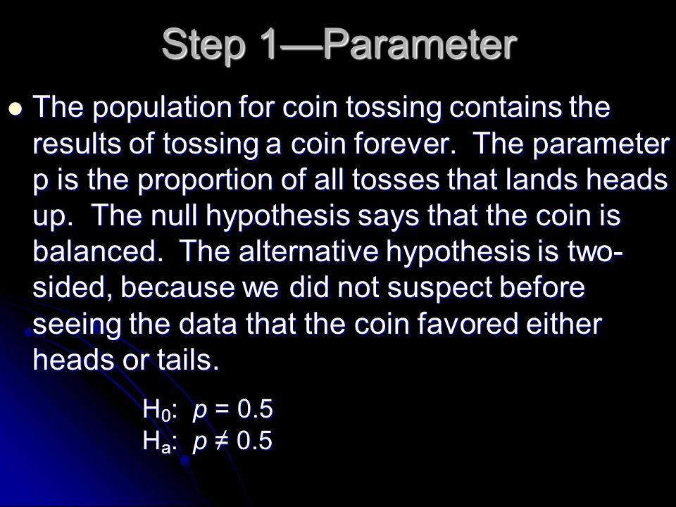 Step 1—Parameter