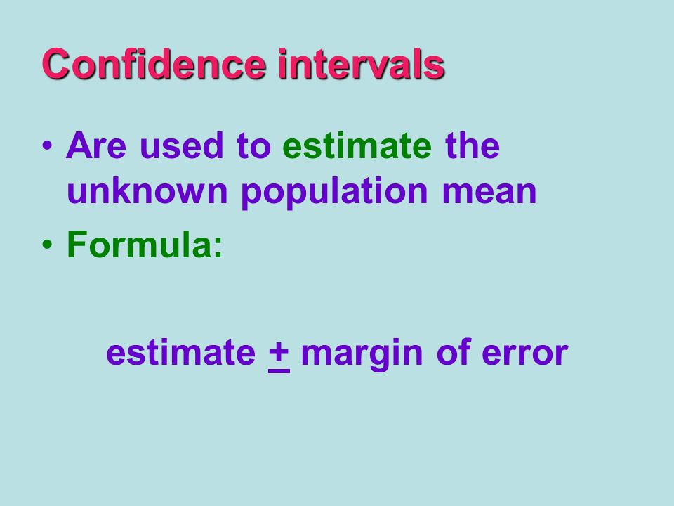 estimate + margin of error