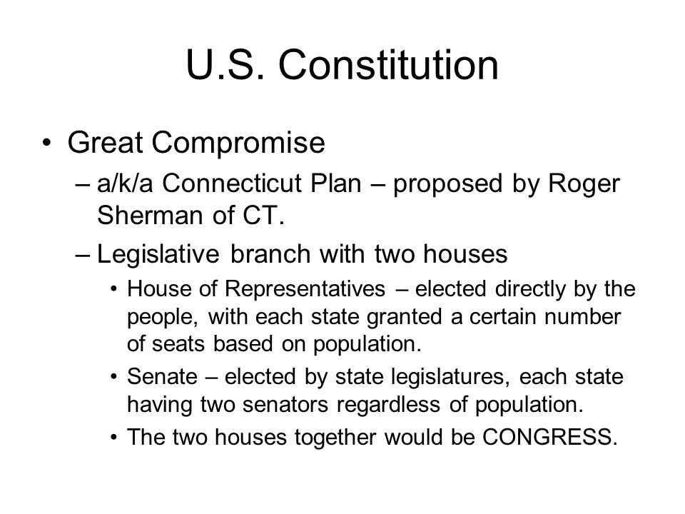 U.S. Constitution Great Compromise