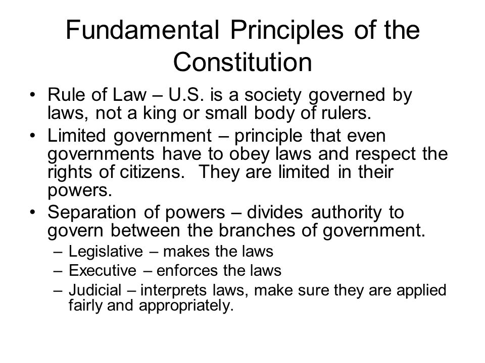 Fundamental Principles of the Constitution