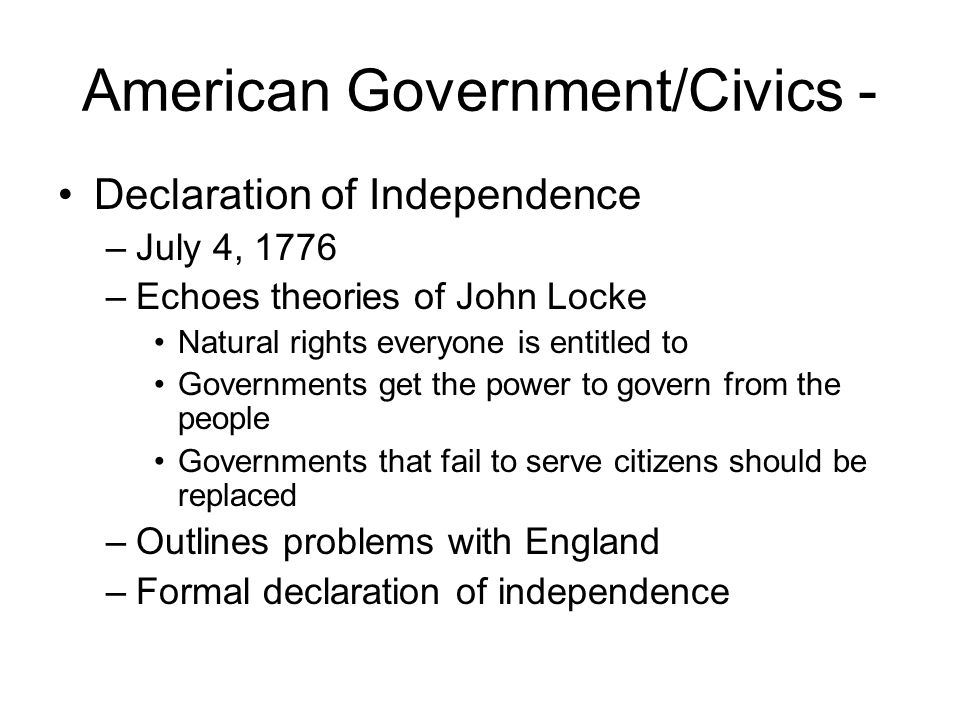 American Government/Civics -