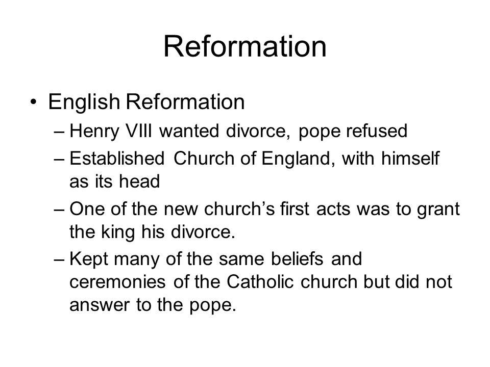 Reformation English Reformation