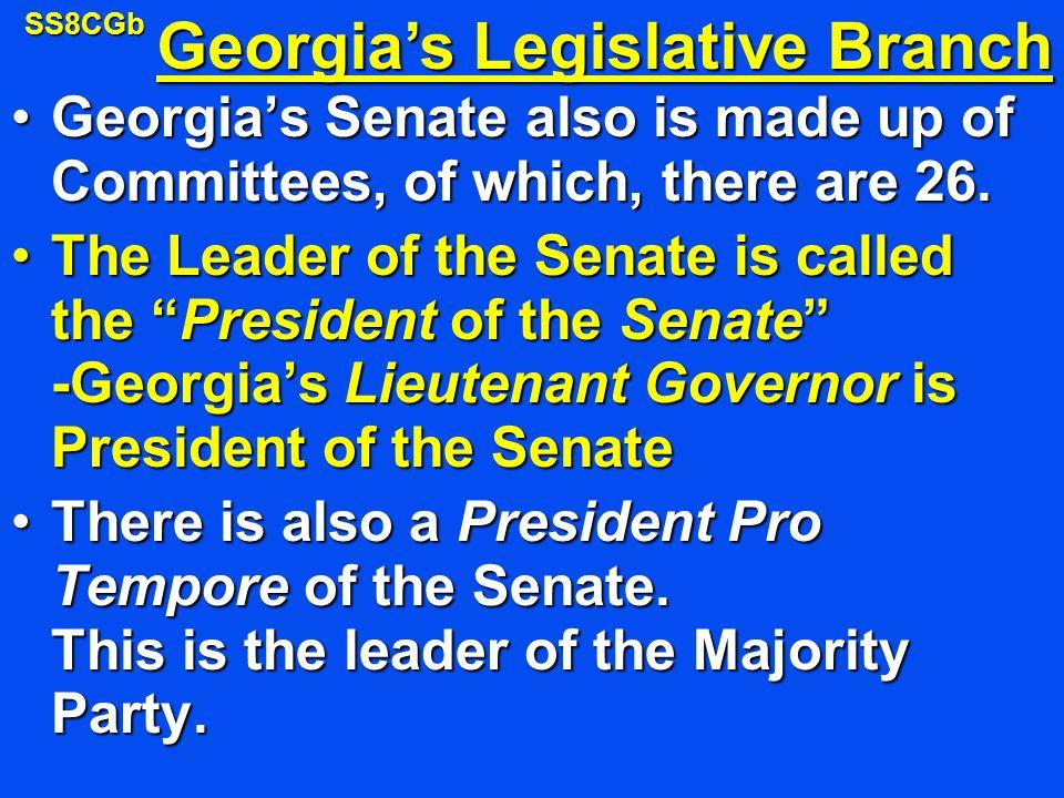 Georgia's Legislative Branch
