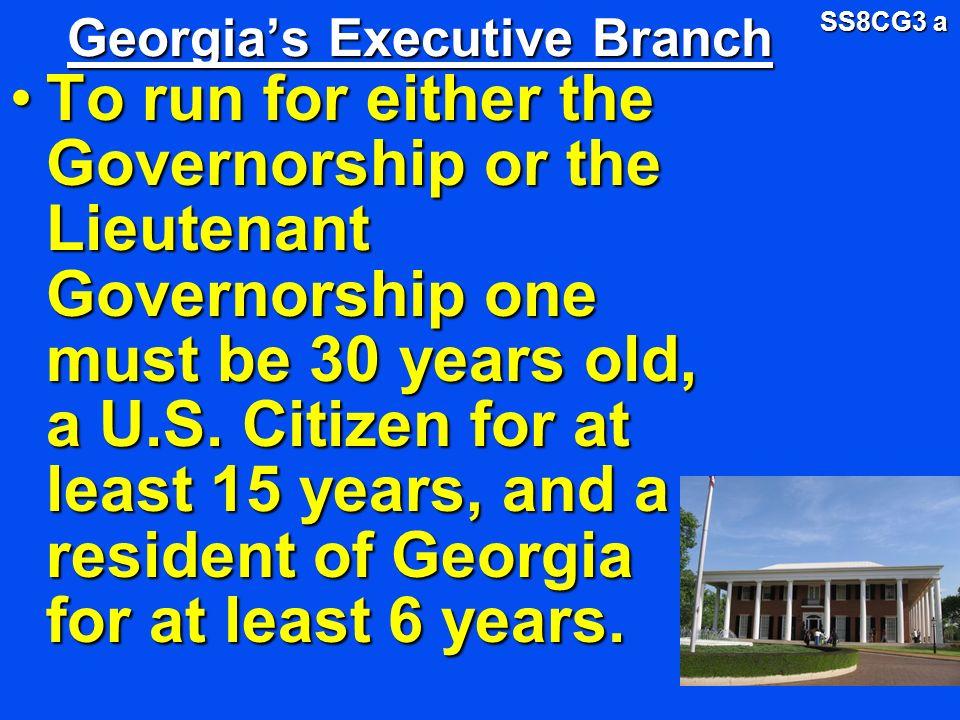 Georgia's Executive Branch