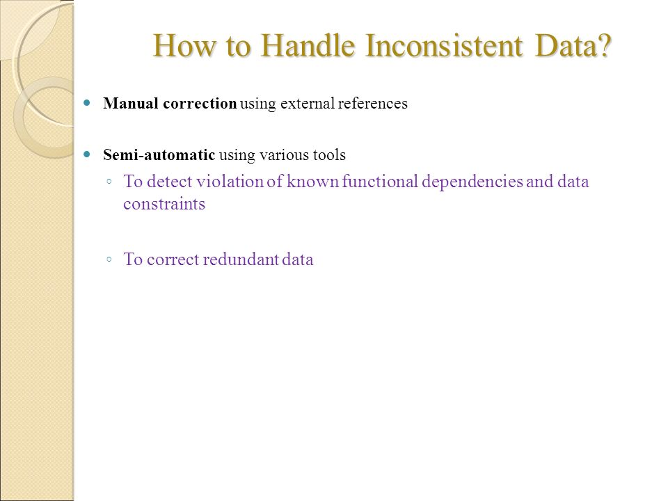 How to Handle Inconsistent Data