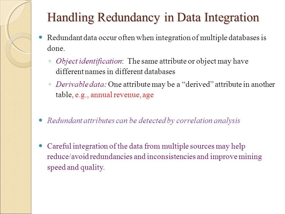 Handling Redundancy in Data Integration