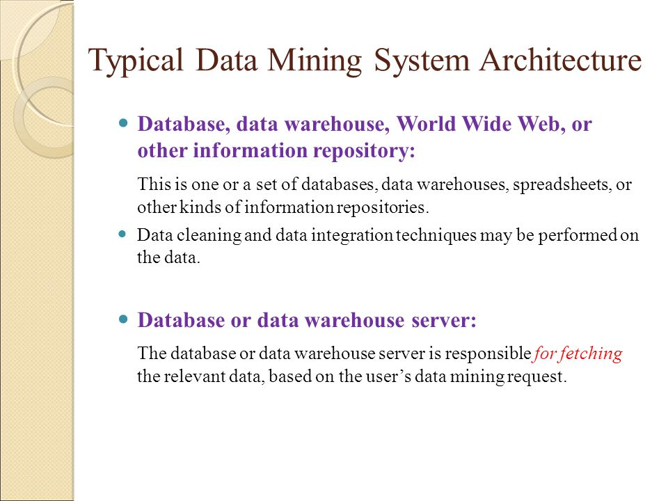 Typical Data Mining System Architecture