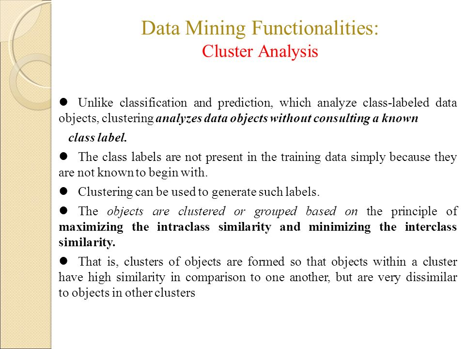 Data mining of chemical analysis for