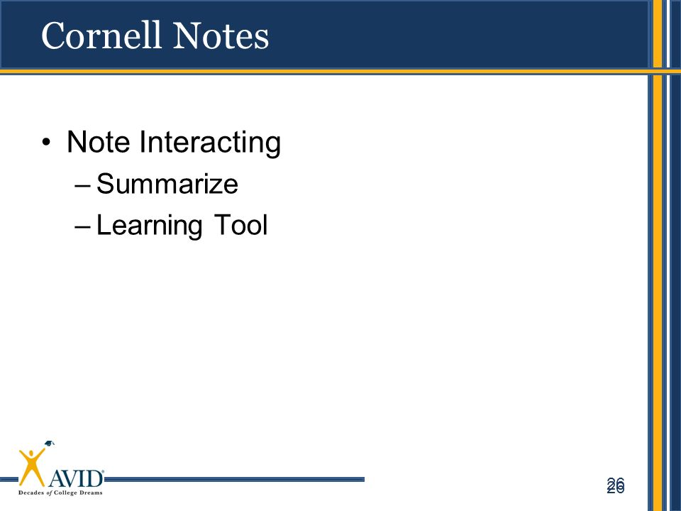 Cornell Notes Note Interacting Summarize Learning Tool 26
