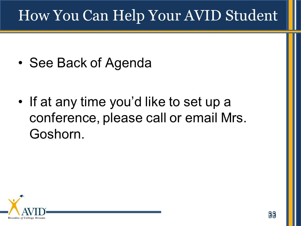 How You Can Help Your AVID Student