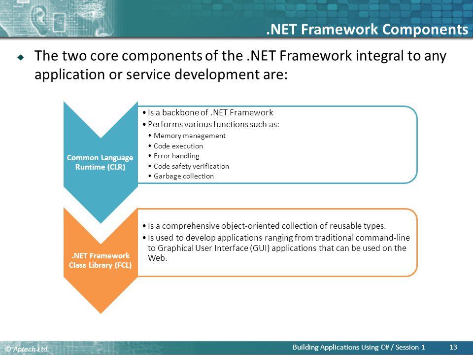 .NET Framework Components