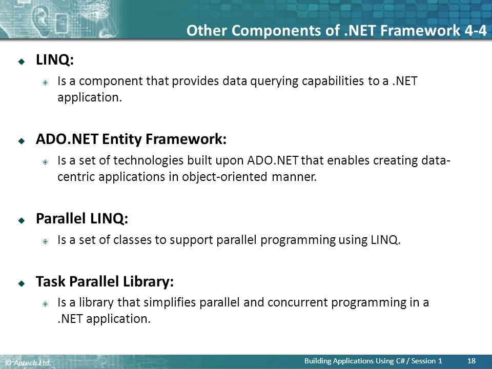 Other Components of .NET Framework 4-4
