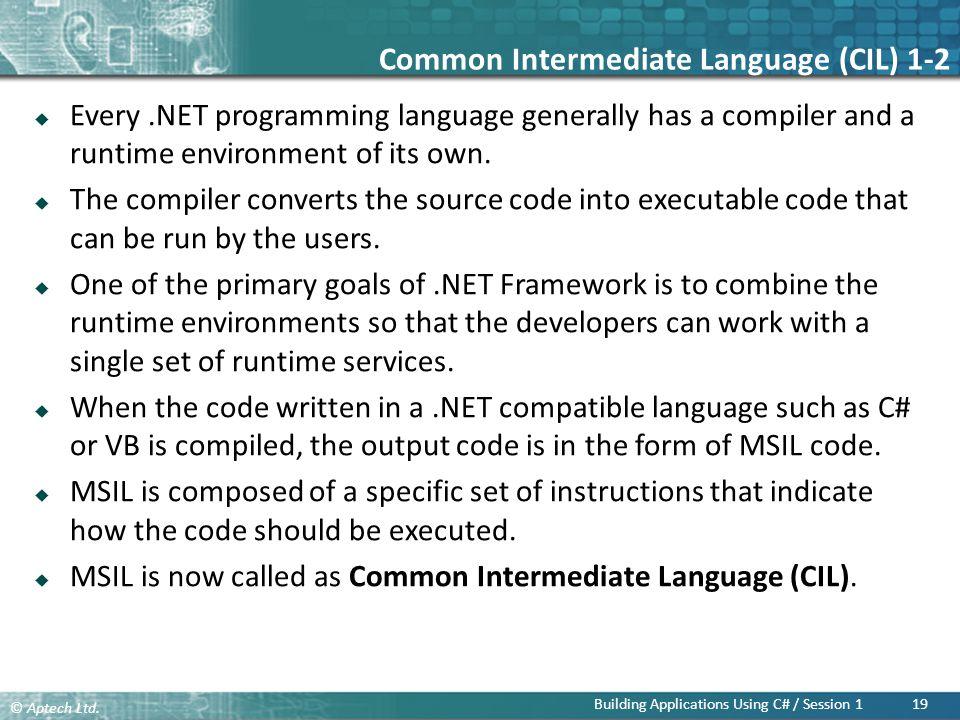 Common Intermediate Language (CIL) 1-2