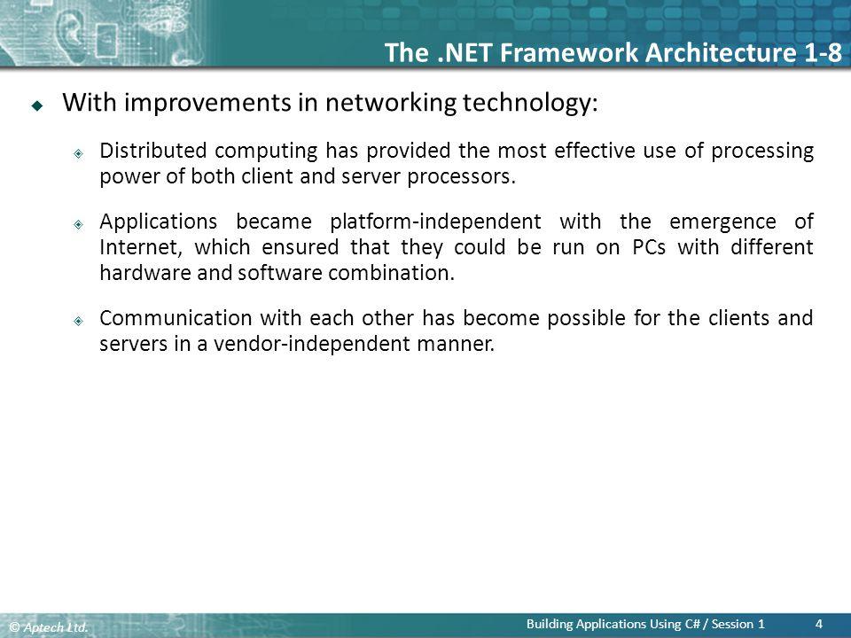 The .NET Framework Architecture 1-8