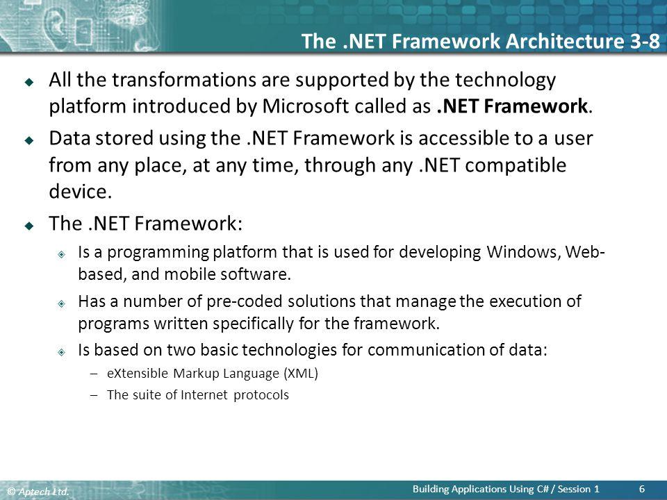 The .NET Framework Architecture 3-8