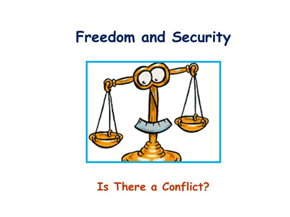 Freedom and Security Is There a Conflict
