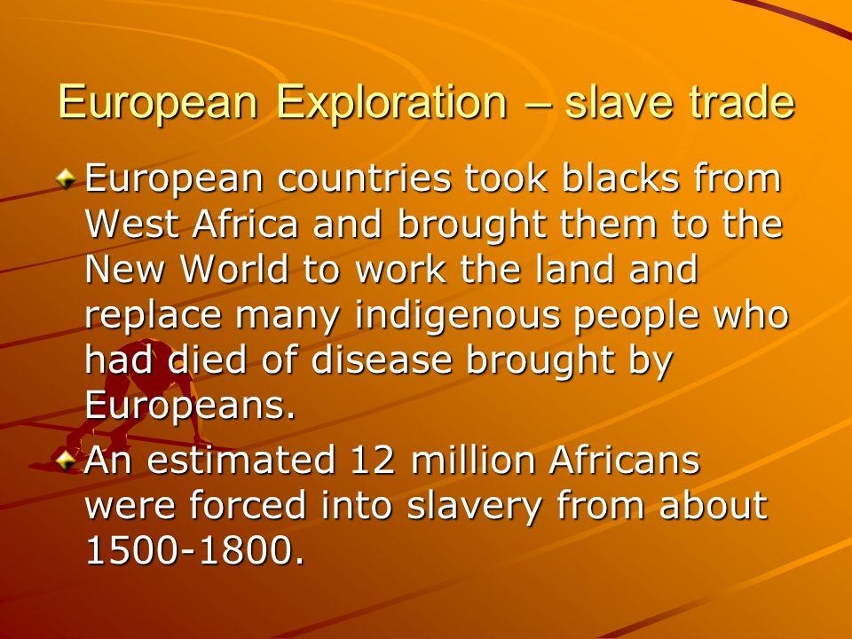 European Exploration – slave trade
