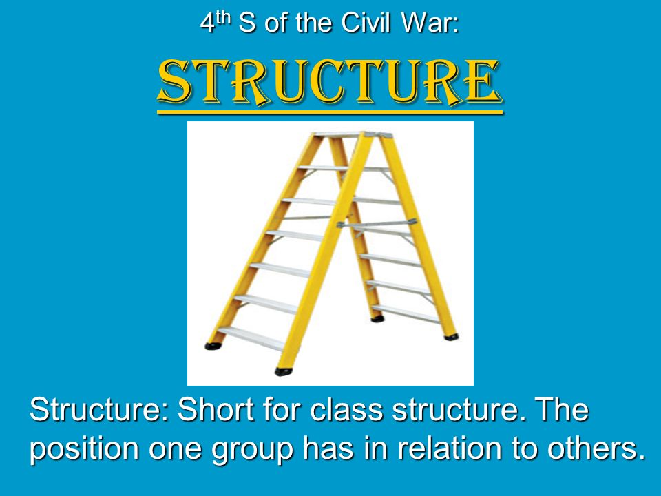 4th S of the Civil War: STRUCTURE