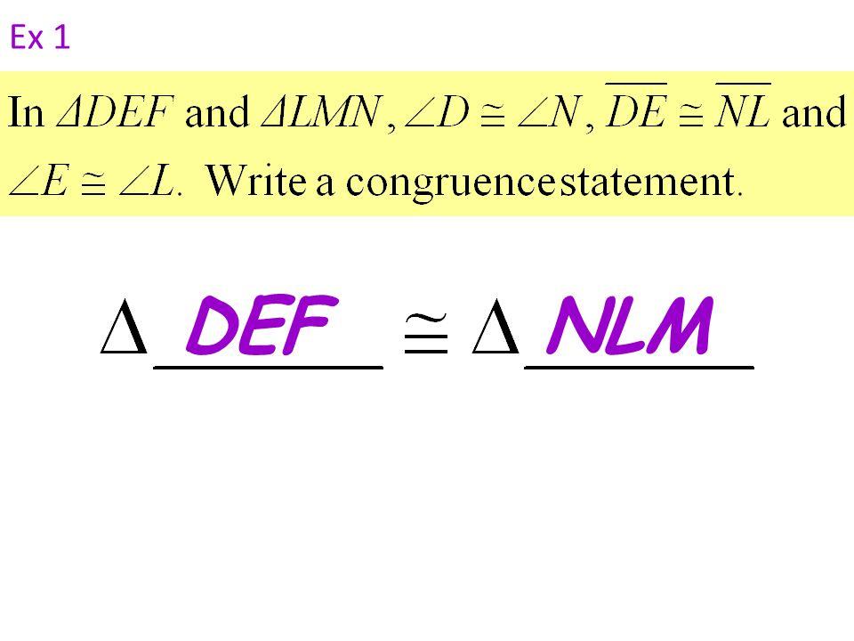 Ex 1 DEF NLM