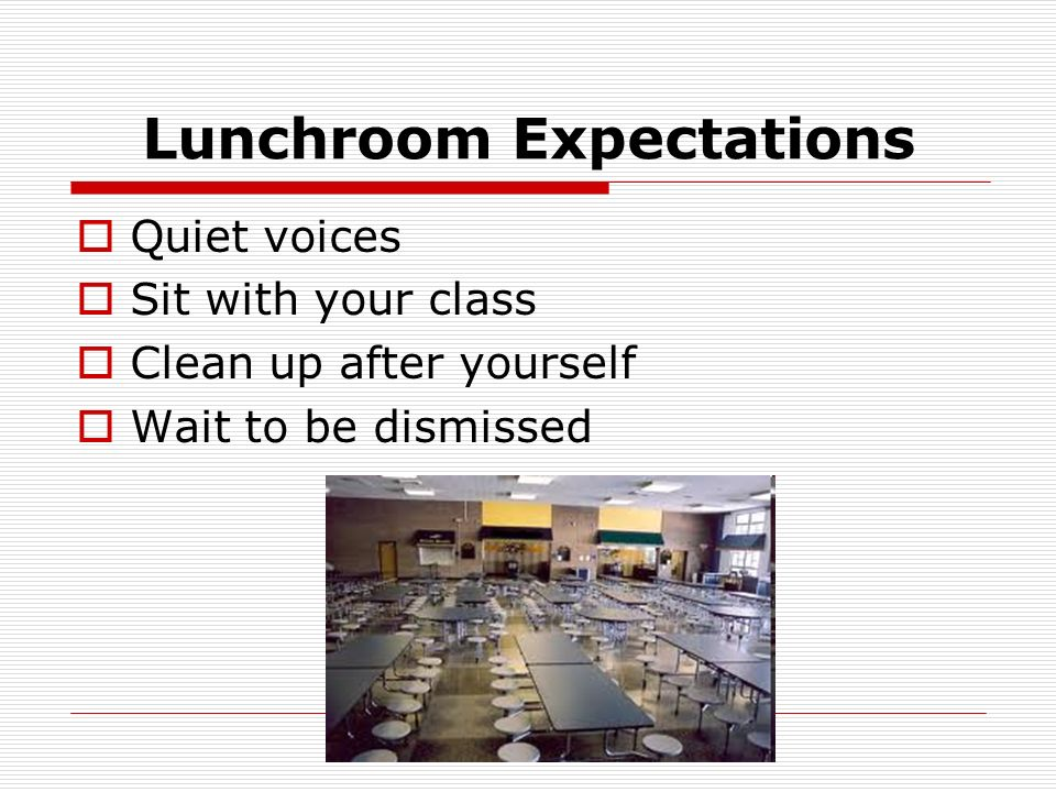 Lunchroom Expectations