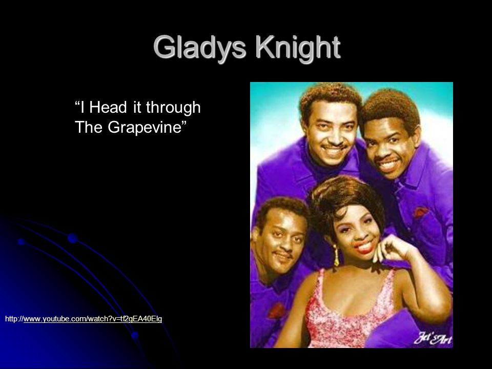 Gladys Knight I Head it through The Grapevine