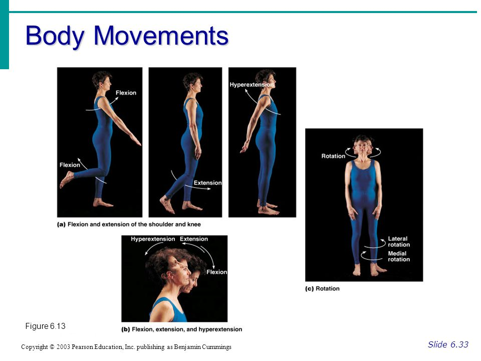 Body Movements Figure 6.13 Slide 6.33