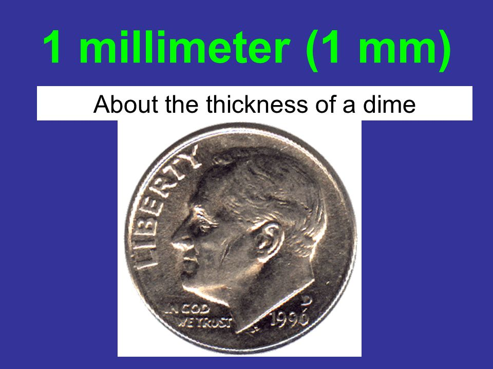 About the thickness of a dime