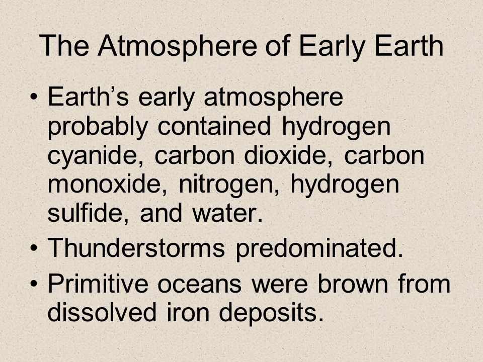 The Atmosphere of Early Earth
