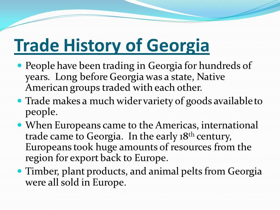 Trade History of Georgia