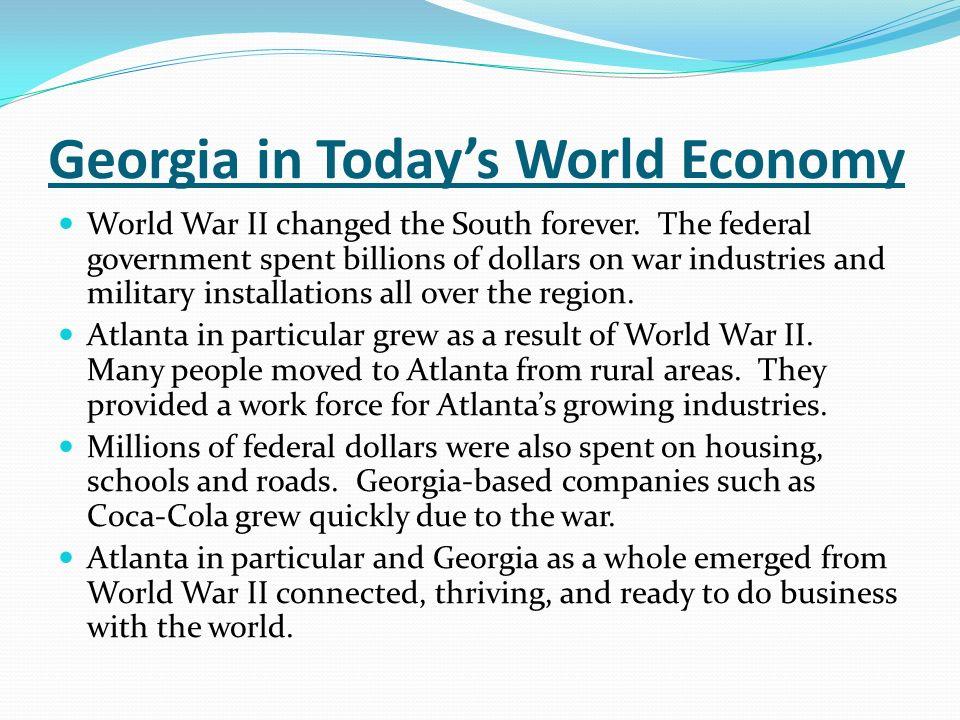 Georgia in Today's World Economy